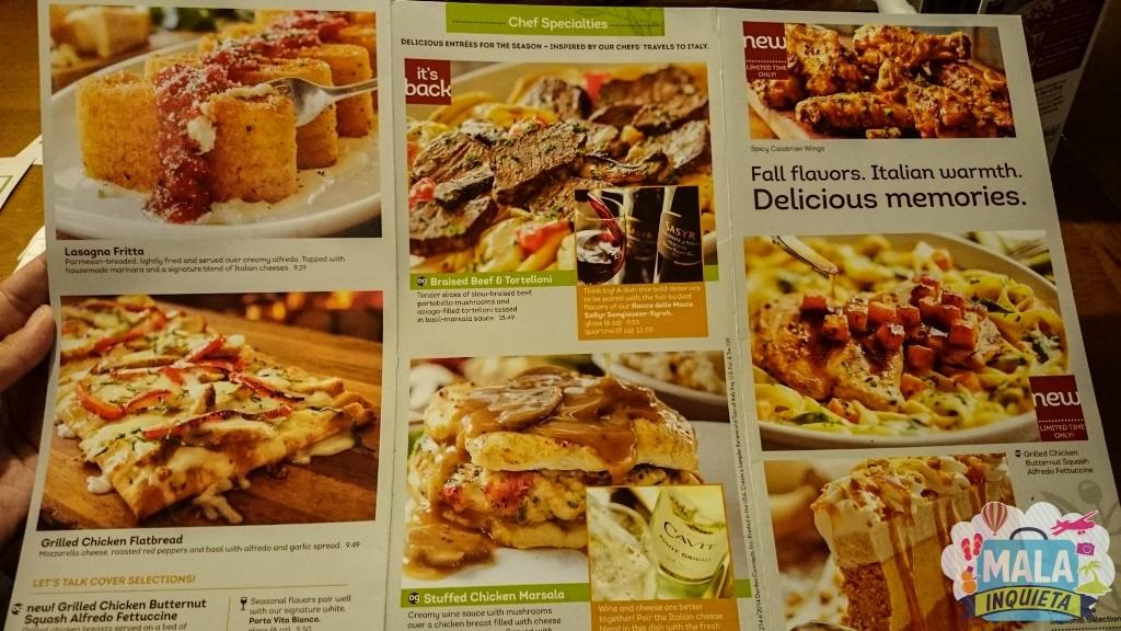 Onde Comer Em Orlando Olive Garden Italian Restaurant Mala Inquieta