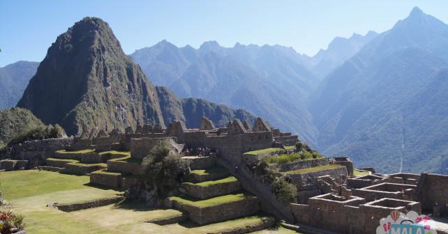 Vista geral de Machu Picchu e da Montanha Huayna Picchu