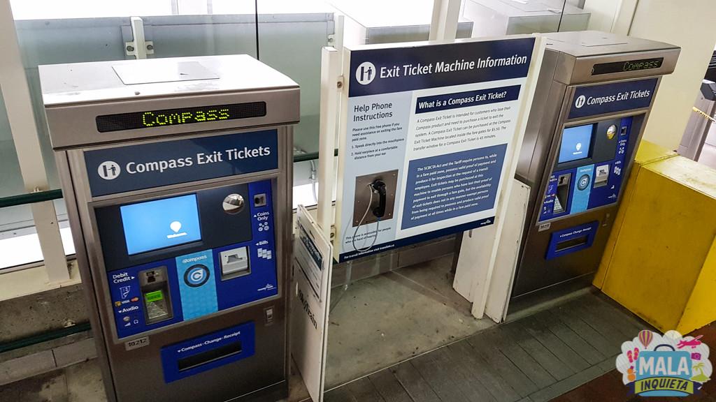 Máquinas para compra do Exit Tickets | FOTO: Renata Luppi