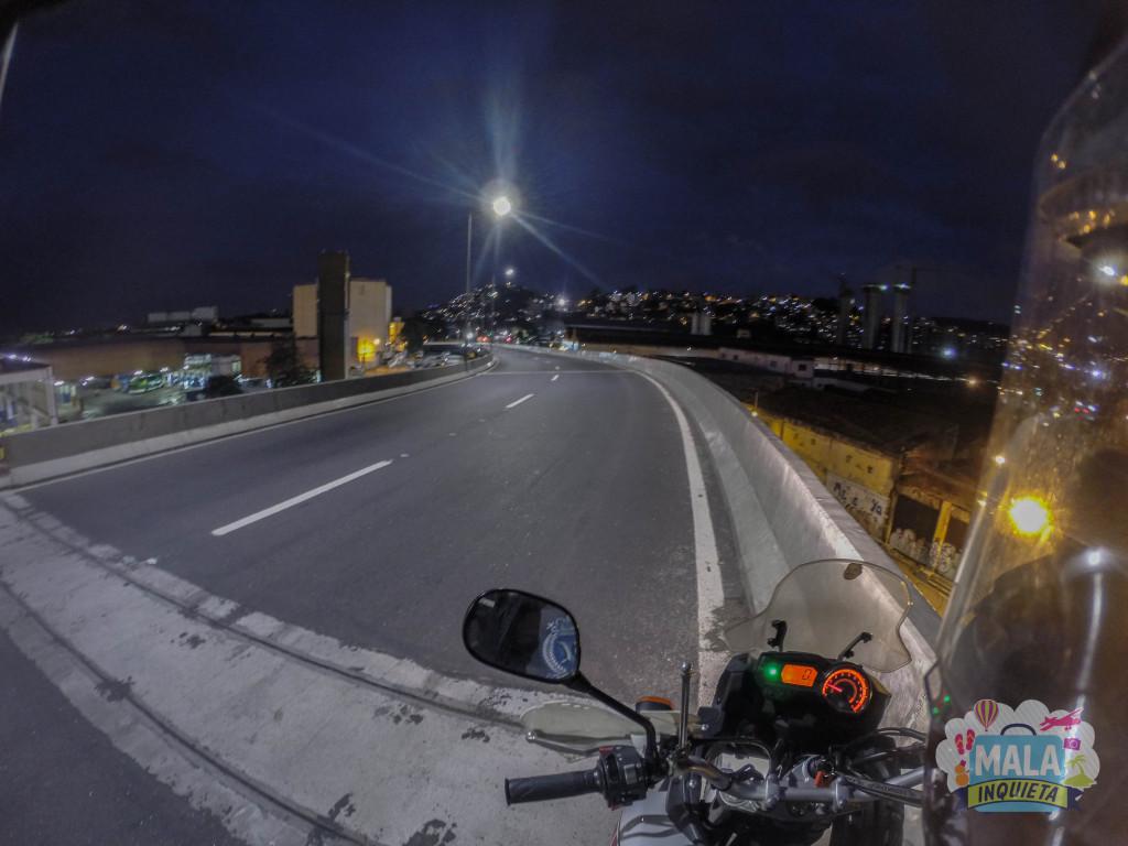 Viaduto do Gasômetro, saída para a Via Binário - Centro