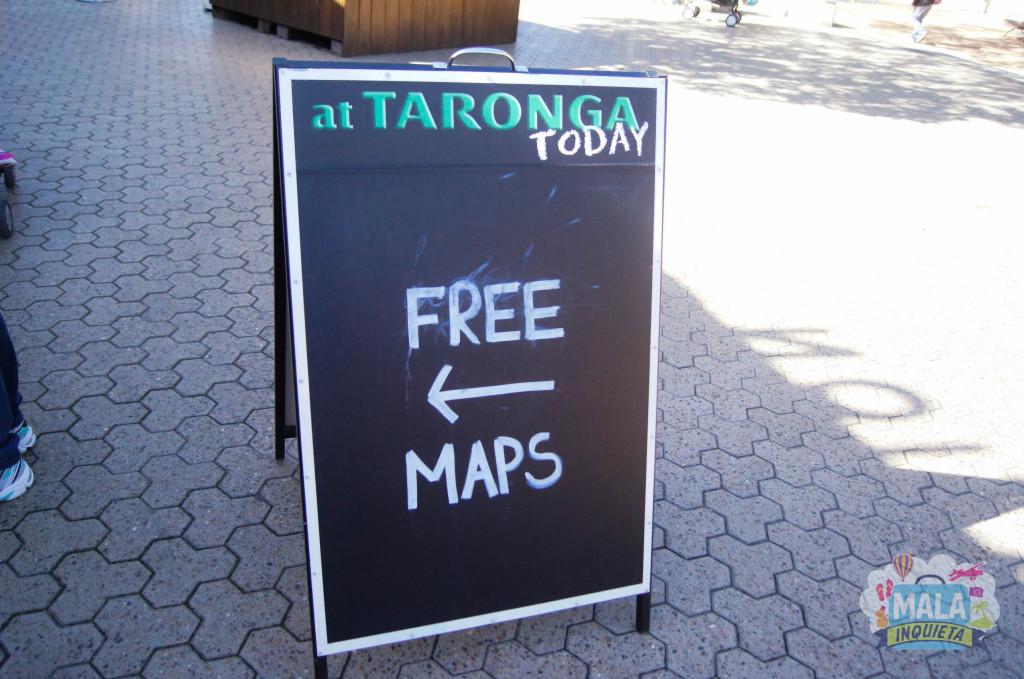 Pegue seu mapa do zoo antes de entrar !