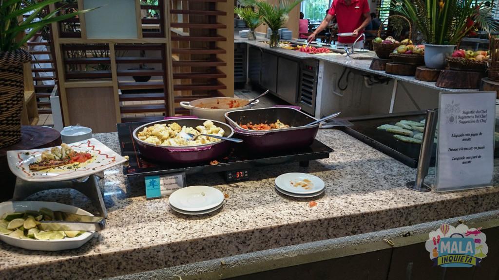 Restaurante Principal - Uma das sugestões do chefe: Pratos preparados na hora.