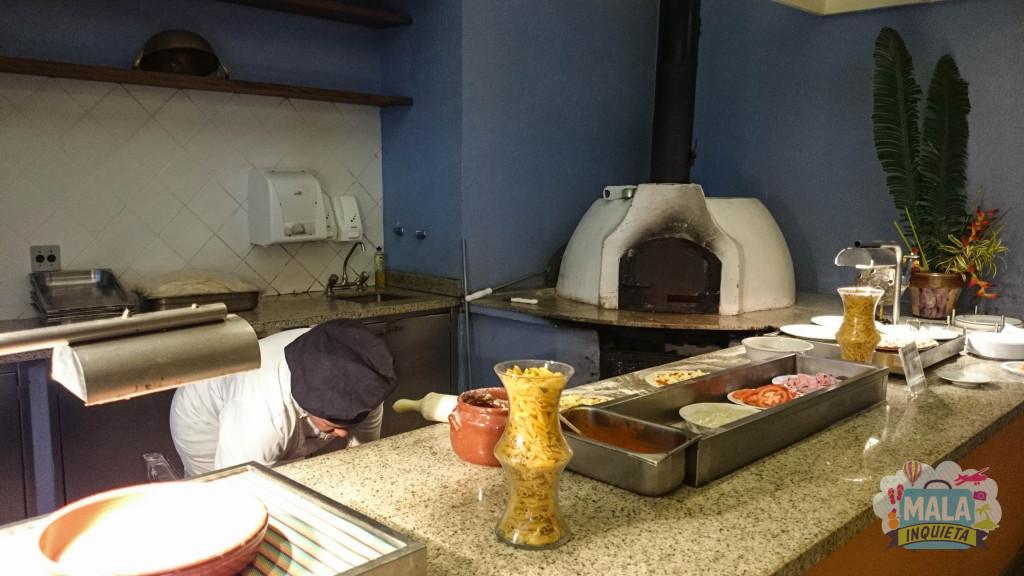 Restaurante Jangada - Lanche da tarde: Pizzas feitas na hora e massa