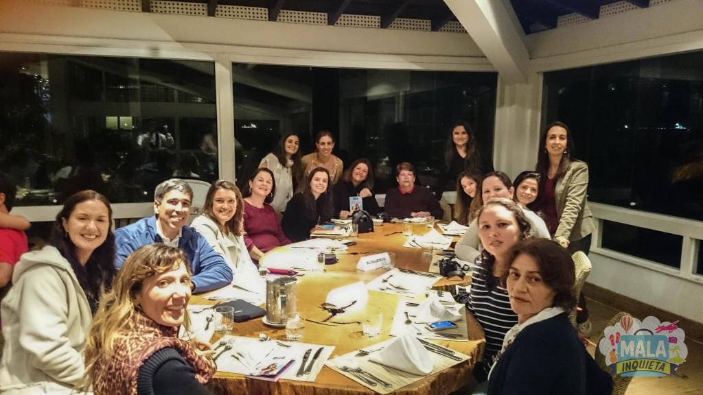 Blogueiros no jantar com a esquipe Club Med