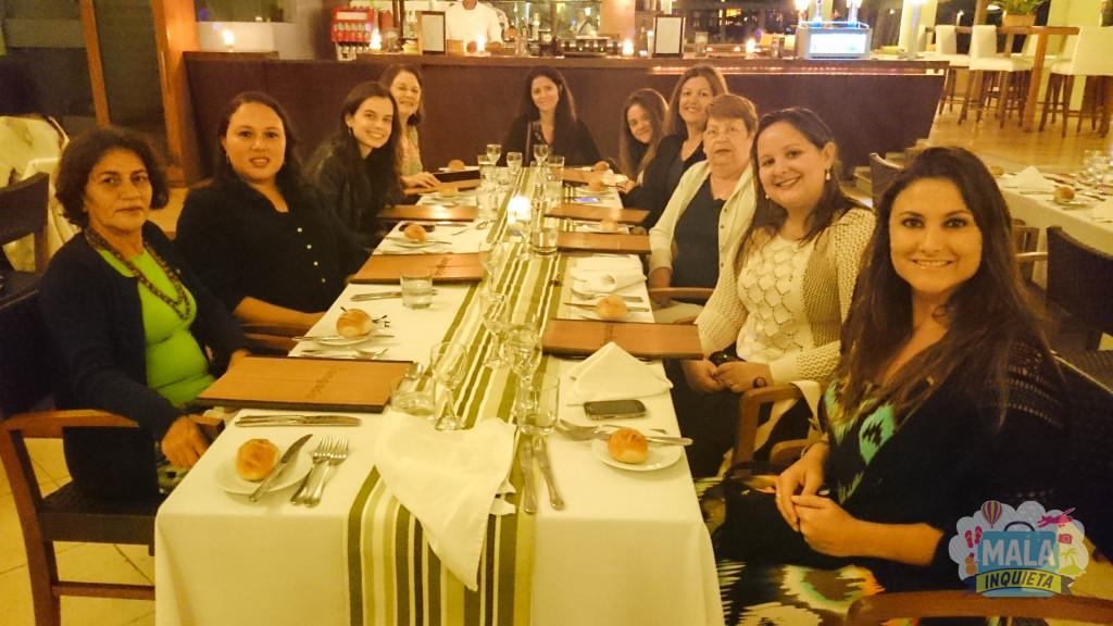 Parte dos blogueiros no Restaurante Jangada