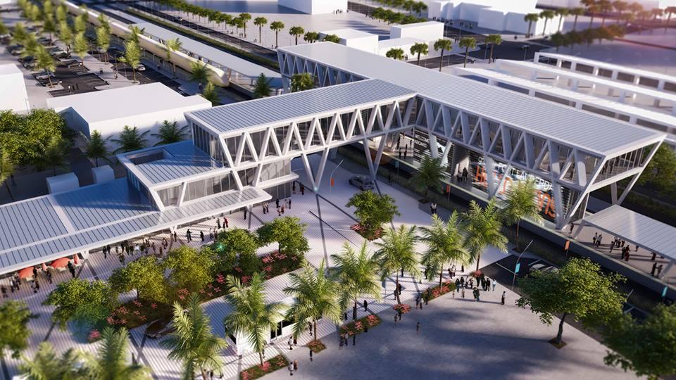 Projeto da estação de Fort Lauderdale. Foto do Site Oficial