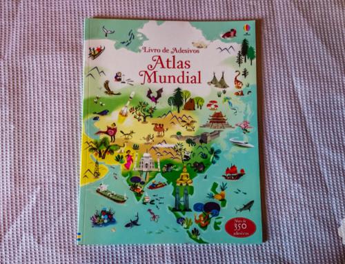 Biblioteca da Malinha Inquieta: Atlas Mundial – Livro de Adesivos