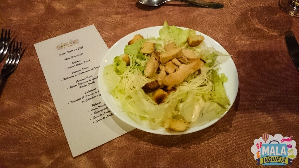 Entrada: Caesar Coffee Salad