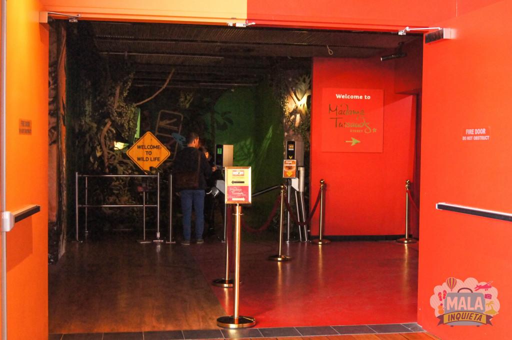 A entrada do Wild Life Sydney Zoo e do Madame Tussauds
