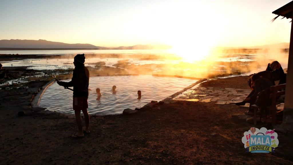 Nascer do sol nas piscinas... Foto: Lisane Monteiro