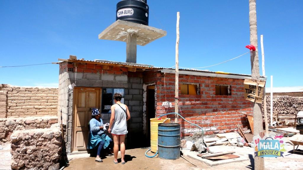 Banheiro no Museo de Sal é um exemplo do que é possível encontrar. Foto: Lisane Monteiro
