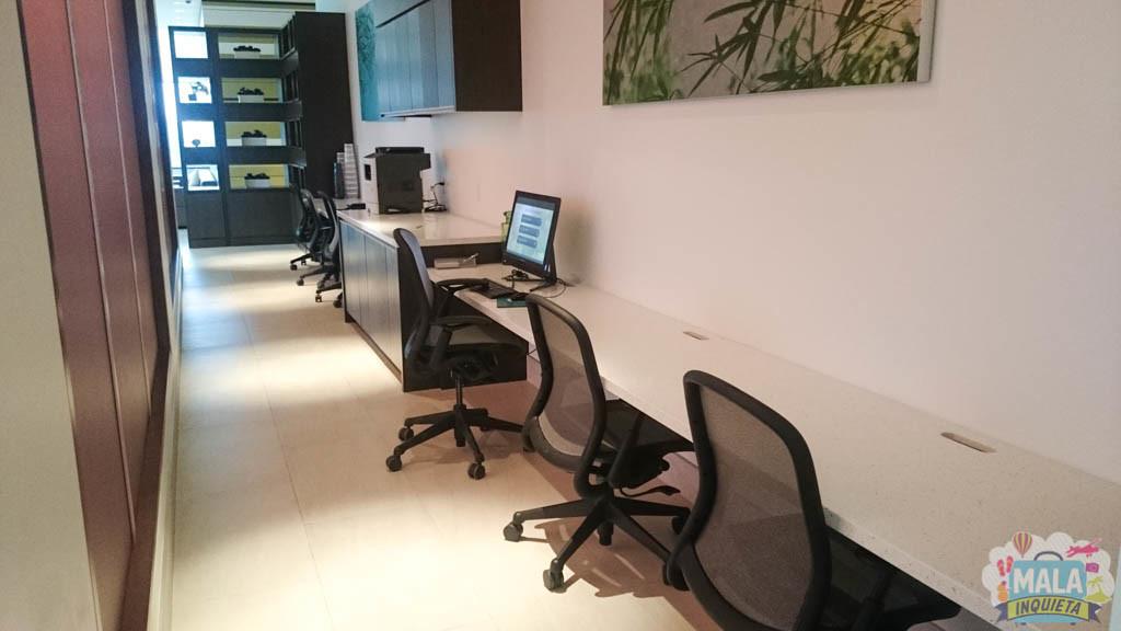 Área de computadores.