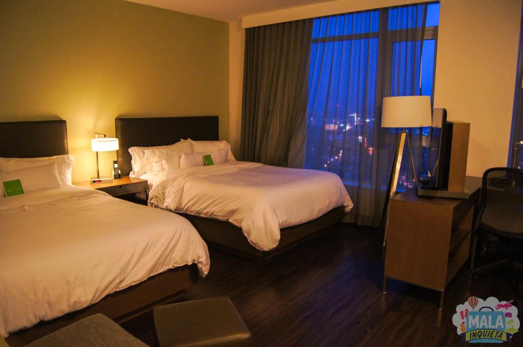 Vista geral dos quartos