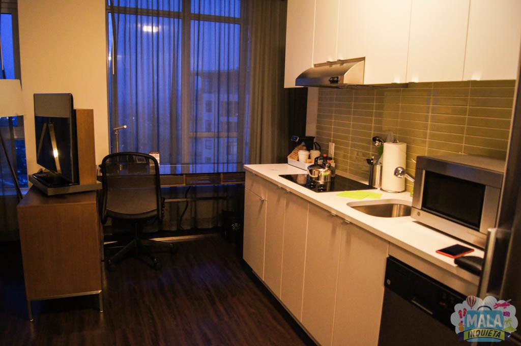 Cozinha e escritório