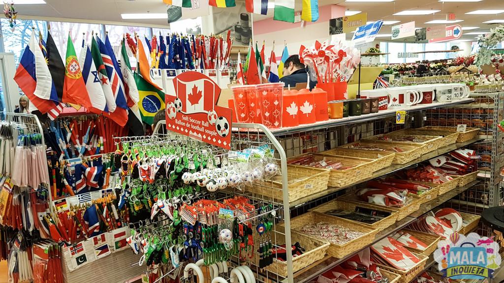 Artigos do Canadá e bandeiras de vários países