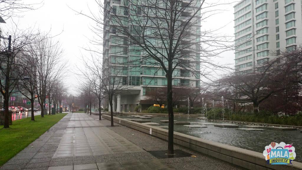Típico dia de inverno em Vancouver: cinza e chuvoso - Foto: Renata Luppi