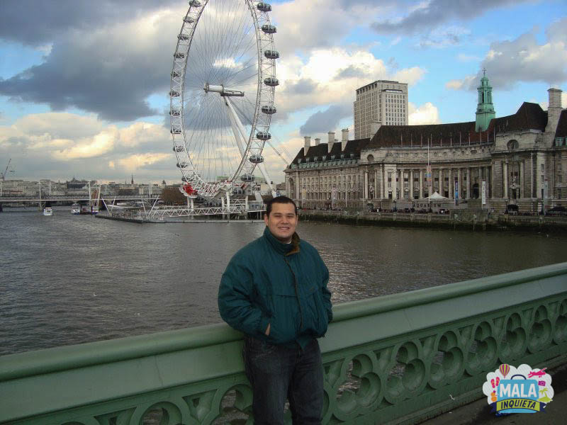 Petrus na London Eye em 2010 | Foto: Mala Inquieta