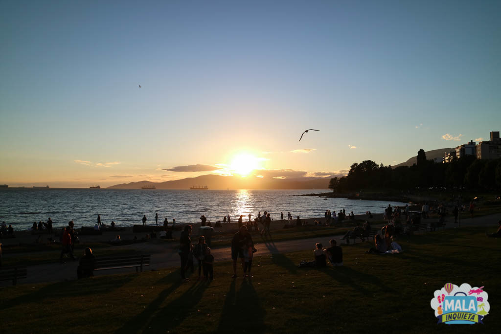 Por do Sol na English Bay - Foto: Renata Luppi