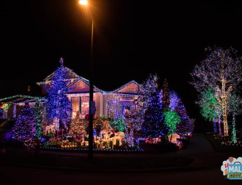 Casas com decoração de Natal na região de Vancouver – 2017