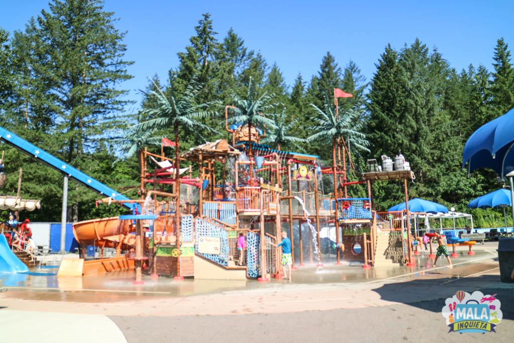 Área infantil do Cultus Lake Water Park