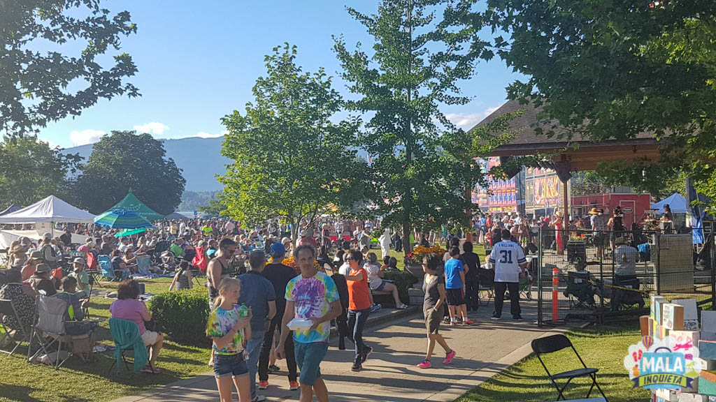 Vista do Ribs Festival de Port Moody
